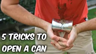 5 Cool Tricks to Open a Can - Compilation