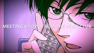 Meeting Kyoya From Host Club (Kyoya x Listener)