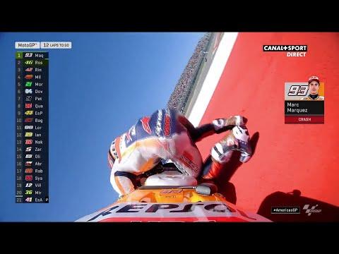 La chute de Marc Marquez !