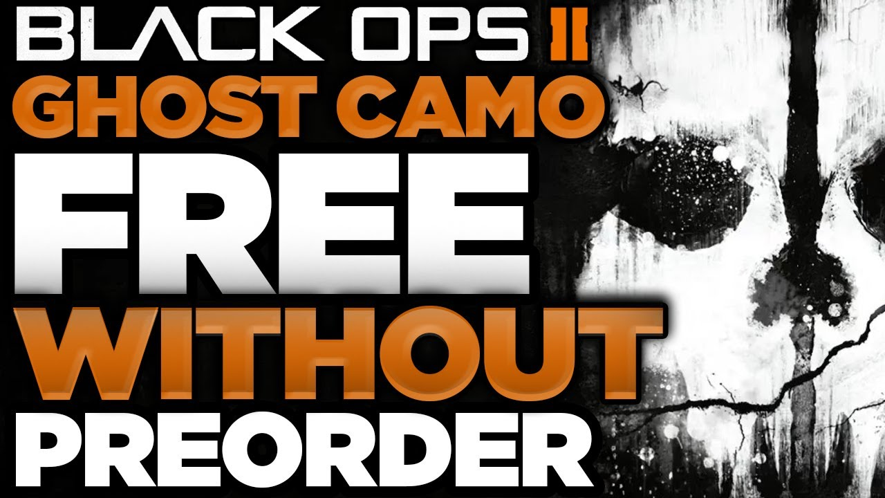 bo2 how to get ghost camo free ps3