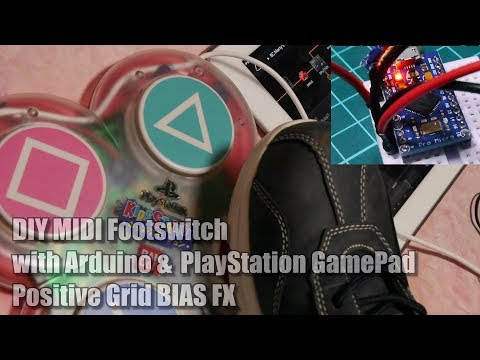 DIY MIDI Foot Switch with Arduino and Game Pad, BIAS FX