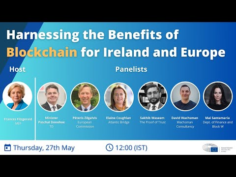 Webinar recording: Harnessing the benefits of Blockchain for Ireland and Europe
