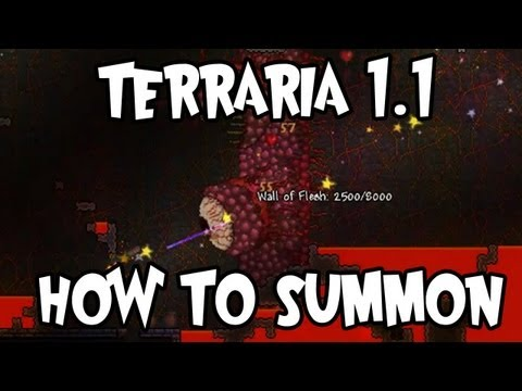 Terraria 1.1 - How to summon the Wall Of Flesh (New boss!)
