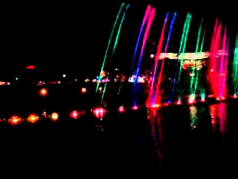 Beauty fountain show in Johannesburg South Africa