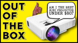 BEST MINI PROJECTOR UNDER 80$? | DR. J Professional HI-04 Mini Projector | Out of the Box