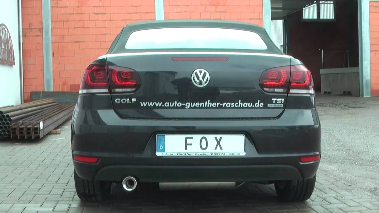 vw golf vi cabrio fox sportauspuff exhaust by fiese. Black Bedroom Furniture Sets. Home Design Ideas