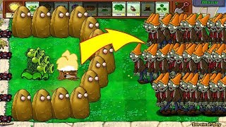 Plants Vs Zombies Hack - 1 Threepeater vs 9999 Giga-Gagantuar