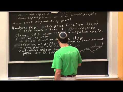 Lecture 12 10/09 Min Cost Flow Algorithms