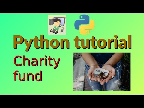 Charity fund - Python tutorial