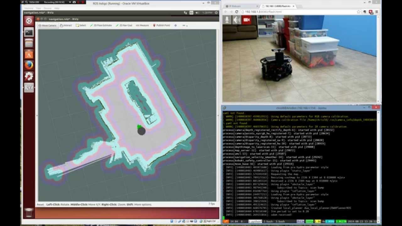 Robot Operating System running on Parallax ArloBot