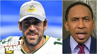 Stephen A.'s fiery reaction to Aaron Rodgers wanting out of Green Bay | First Take