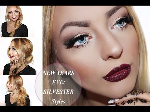 silvester make up 3 party frisuren lange haare nye make up 3 hairstyles longhair youtube. Black Bedroom Furniture Sets. Home Design Ideas