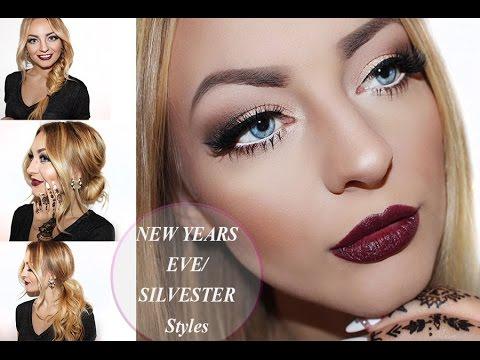 Silvester Make Up 3 Party Frisuren Lange Haare NYE Make Up