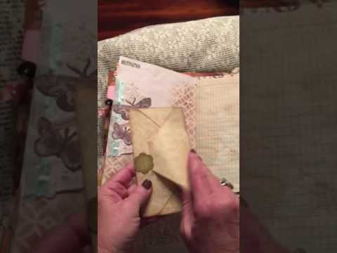 Vintage nature- envelope junk journal