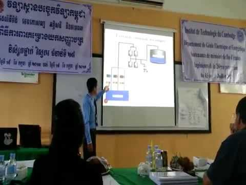 Chanraksmey CHHIM-Defending thesis at Institute of Technology of Cambodia.