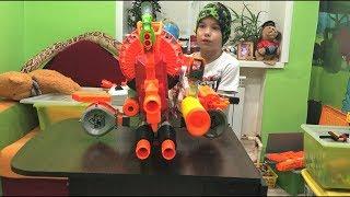 Make a giant blaster Nerf Собираем огромный бластер Нерф
