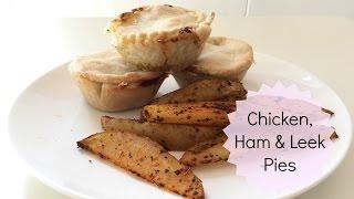 Easy Peasy Chicken, Ham & Leek Pies