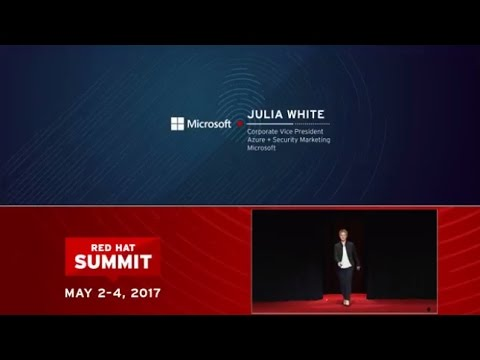 Julia White, Microsoft, at Red Hat Summit 2017: Empowering digital transformation together