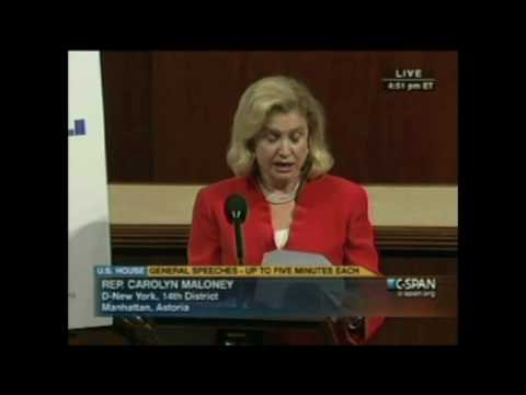 Rep. Carolyn Maloney (D - NY):  Congress Can and Should Help Small Businesses