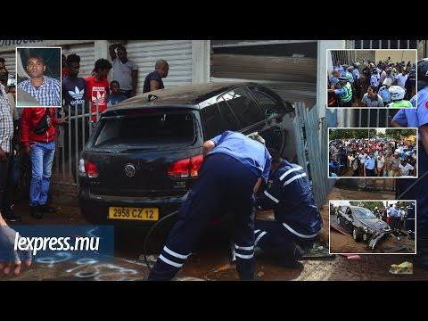 Accident mortel à Baie-du-Tombeau: le conducteur s'enferme dans sa voiture