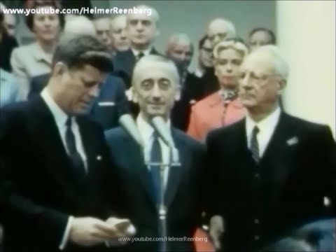 April 19, 1961  President John F. Kennedy's Remarks to Jacques Yves Cousteau in the Rose Garden