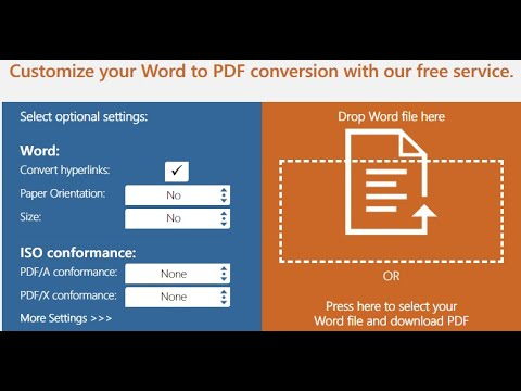 Free Word to PDF Creator  Best PDF online creation