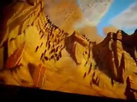 The Lion King Wildebeest Stampede Scene Youtube