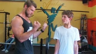 Teen Beginners Bodybuilding Training - Upper Body  - Chest, Arms, Shoulders thumbnail