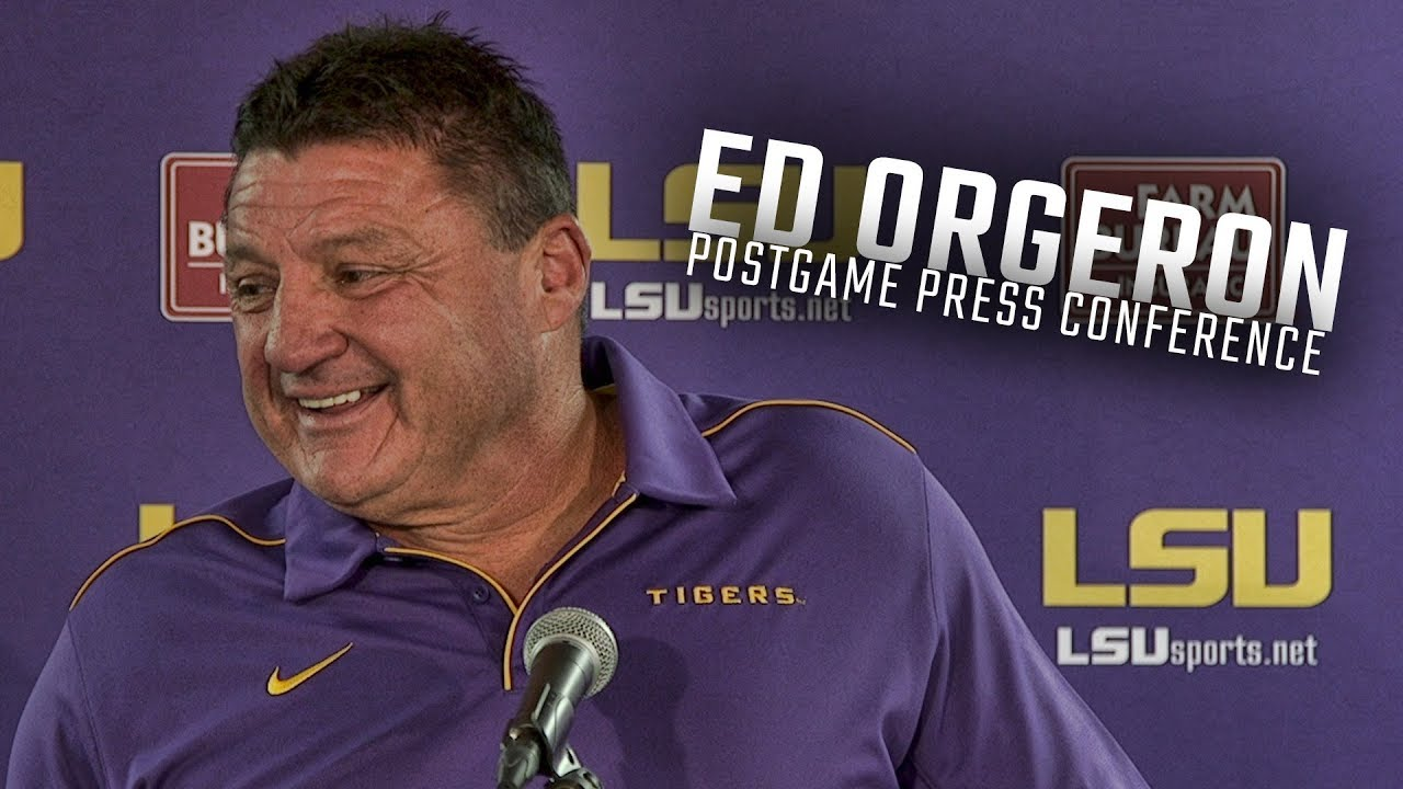 Hear What Lsu Head Coach Ed Orgeron Had To Say Following The Tigers 46 41 Win Over Alabama Youtube