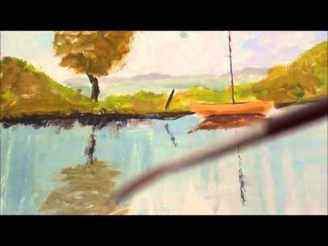 Malen Mit Acryl Stehendes Wasser Reflektionen Youtube