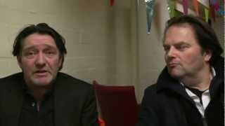 Schouwblog - Pierre Bokma en Victor Löw na afloop van 'De verleiders' in Schouwburg Cuijk