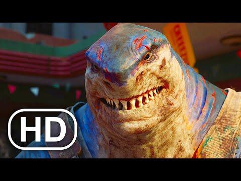 SUICIDE SQUAD VS JUSTICE LEAGUE Fight Scene King Shark, Batman, Superman (2021) Action HD