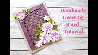 Beautiful Handmade Greeting Card for Birthday/Anniversary/Festivals - DIY Weaving Card Idea