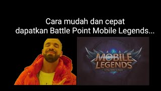 Mobile Legends Cara cepat dan mudah dapatkan Battle Point Mobile Legends