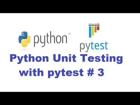 Python Unit Testing With Pytest 3 - Parameterizing tests