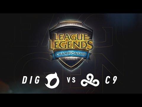 DIG vs. C9 - Day 1 Game 3 | NA LCS Summer Split Quarterfinals | Team Dignitas vs. Cloud9 (2017)