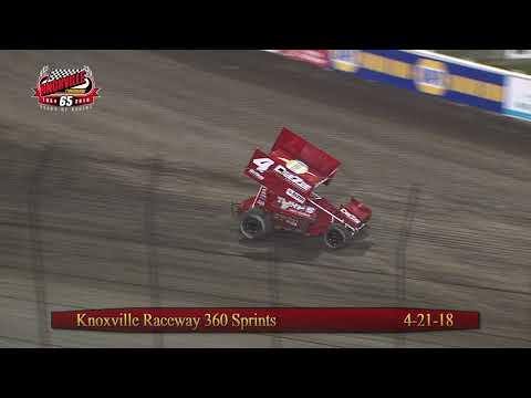 Knoxville Raceway 360 Highlights - April 21, 2018