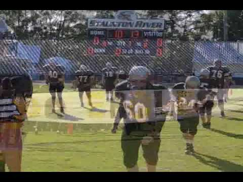 "Staunton River Middle School Football B-Team 2008 Highlights ""Back in Black and Gold"""