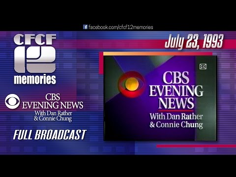 1993-07-23 - CBS Evening News with Dan Rather & Connie Chung (Floods in US mid-west)