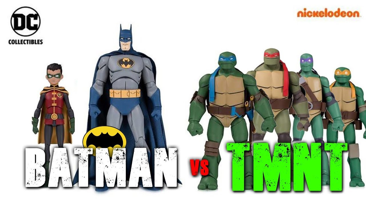 Batman Vs Tmnt Figures Coming From Dc Collectibles Revealed Youtube