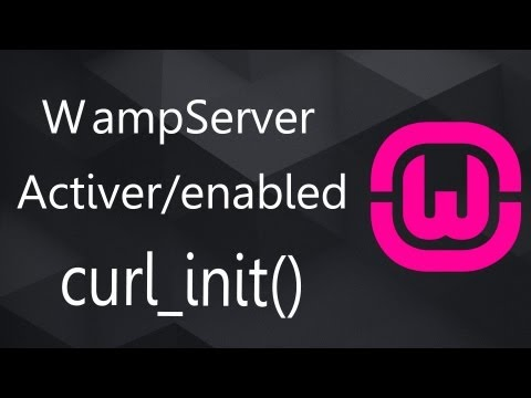 fatal error: call to undefined function curl_init() WAMP