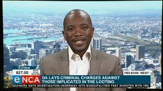DA's reaction to the VBS report
