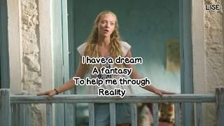 """Amanda Seyfried - I Have A Dream (From """"Mamma Mia!"""") [Lyrics Video]"""