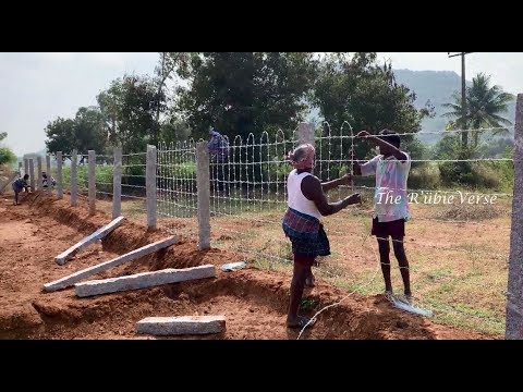 Agricultural Land Fencing Work in Tamil Nadu,  Fencing, Stone in Fittings of Barbed Wire Fencing