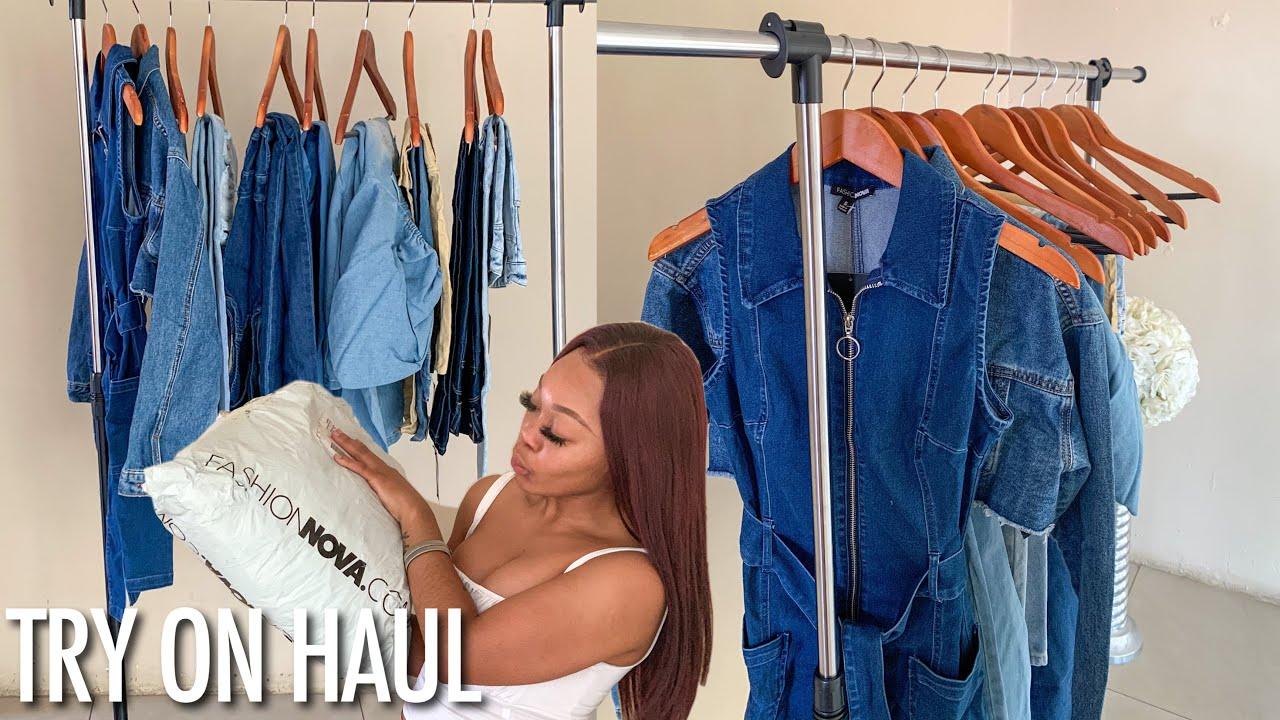 Fashion Nova Jeans + denim collection Try-on Haul | OG Parley