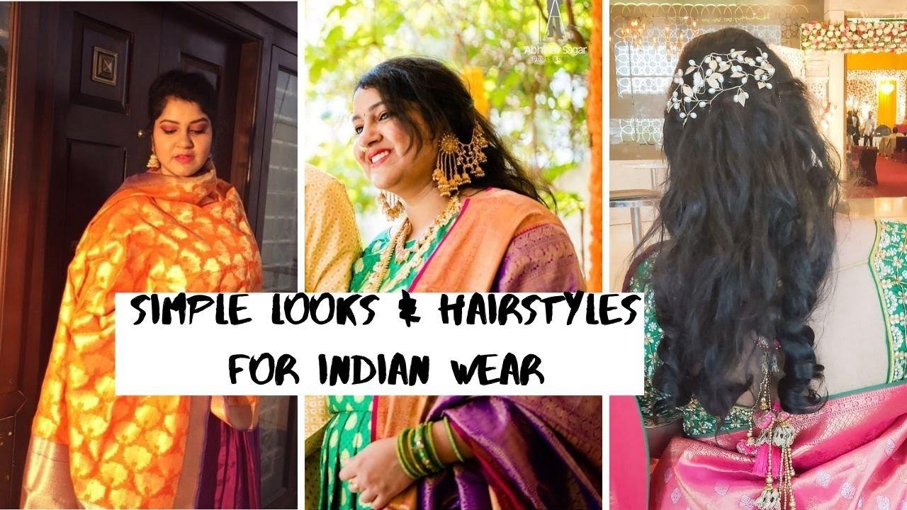 3 Easy Hairstyles for Weddings  ( No Heat ) | Simple Indian Wedding Guest Looks | Priyanka Boppana