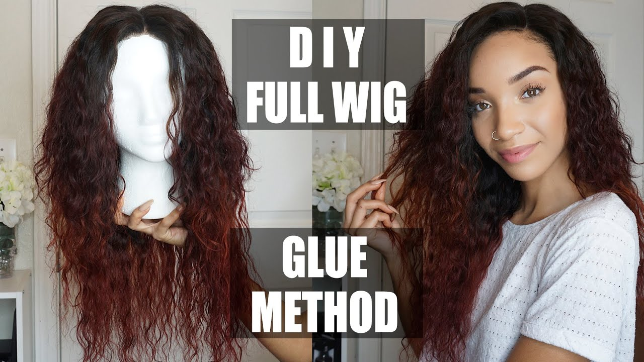 Hair Easy Diy Full Wig With Lace Closure Glue Method