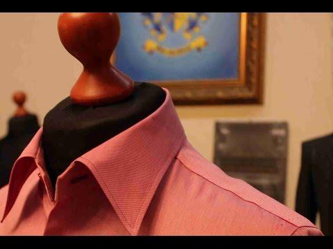 Изготовление воротника в мужской сорочке. Bespoke Технология.
