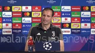"""Juve - Ajax, Allegri: """"Domani l'andata non conterà nulla, sarà la partita infinita"""""""