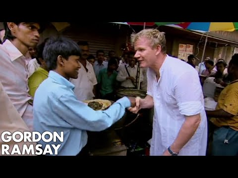 Gordon Ramsay Cooks Indian Street Food For Locals | Gordon's